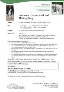 Vortrag Anatomie - Biomechanik - Hilfengebung