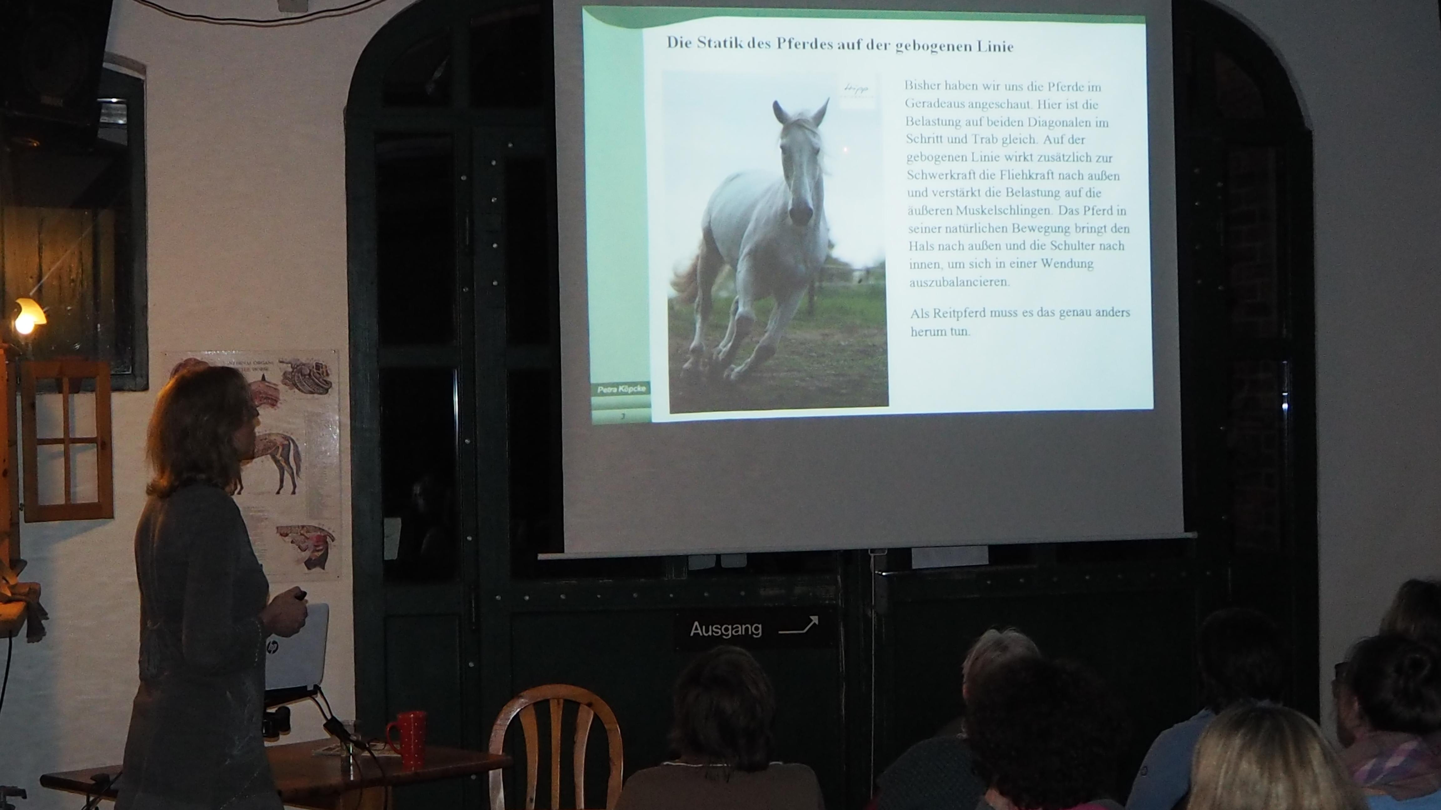 """Vortragsreihe """"Reiten in Balance - Teil 2: Stellung, Biegung, Geraderichten"""" beim Pferd"""