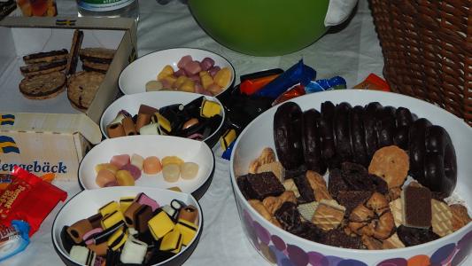 Süßigkeiten auf dem Vortrag für den Zuckerspiegel